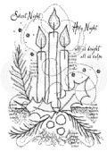 Woodware - Three Candles - Clear Magic Singles Stamp - FRS703